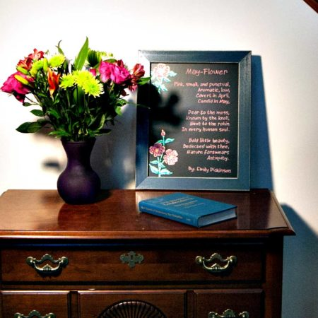 Cohas Chalboard and Marker System 11 x 14 framed Williamsburg Blue Great for Weddings, Menus, Chalkboard at Home