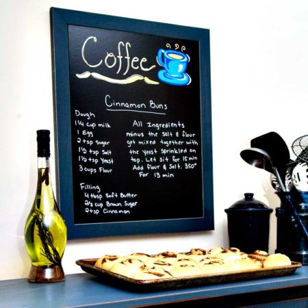 Cohas Chalboard and Marker System 16 x 20 black Framed Great for Menus