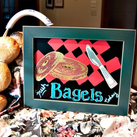Application of Paint Markers on 8 x 10 Frame Bagel Shop Display