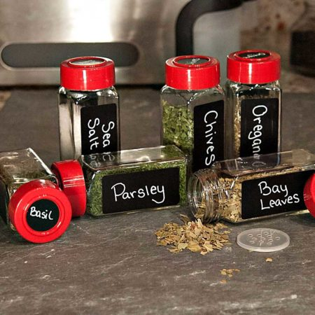 Rectangle and Round Labels fit ChefLand Square Glass Spice Jars