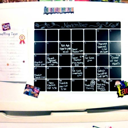 Cohas Chalkboard and Marker Systems Small Monthly Magnetic Backed Blackboard Calendar with One White Marker SKU IA-ZB-MAG-CAL-SML-000 UPC 719926444422