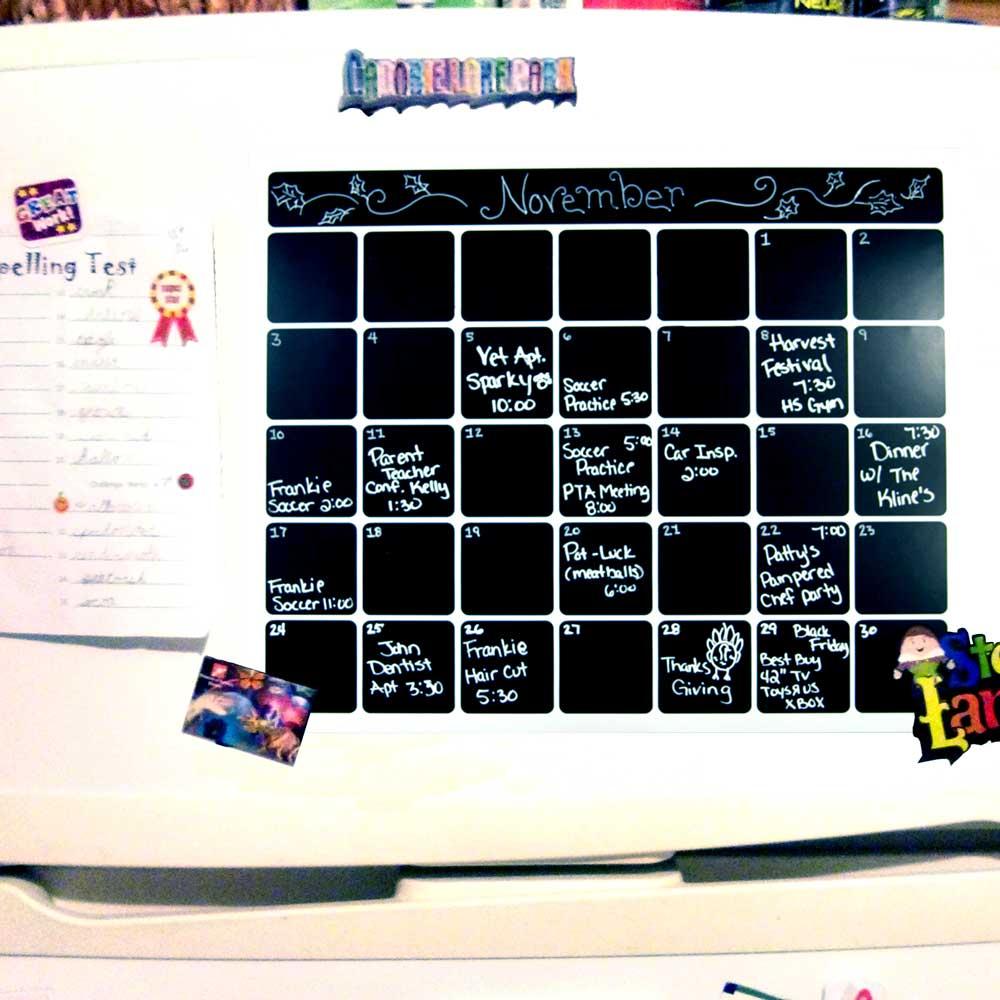 Magnetic Monthly Calendar For Refrigerator : Magnetic dry erase refrigerator calendar board monthly