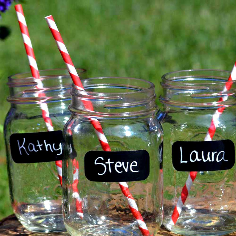 Small Rectangle Chalkboard Labels fit Solo and Other Party Cups and Supplies