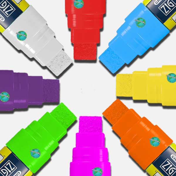 Zig Posterman 15mm Ilmuigraph Wet Wipe Markers in 8 colors