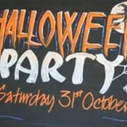 Halloween Party Chalkboard Art Sign with Zig Posterman Markers