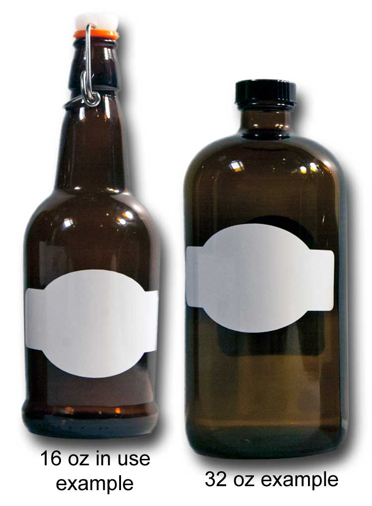 Horizontal Banner Matte White Labels Fit Beer Growler And