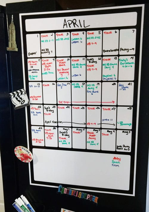 Monthly Magnetic Backed Whiteboard Calendars For Home And